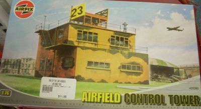 BUILDING KIT OO AIRFIX AIRFIELD CONTROL TOWER 3380 176