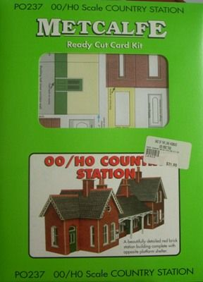 BUILDING KIT OO METCALFE COUNTRY BRICK STATION KIT OO