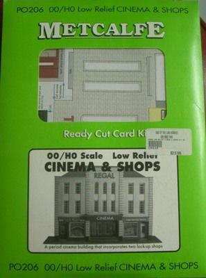 BUILDING KIT OO METCALFE PO206 CINEMA + SHOPS HO