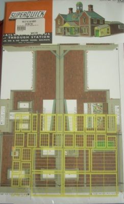 BUILDING KIT OO SUPERQUICK A10 RAILWAY TERMINUS STATION OO