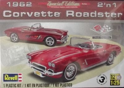 KIT 125 REVELL 1962 CORVETTE ROADSTER 2IN1 KIT 125