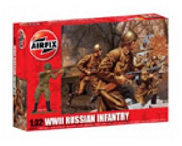 MILITARY   AIRFIX A02704 WWII RUSSIAN INFANTRY 132