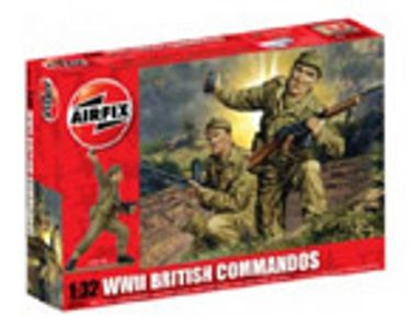 MILITARY   AIRFIX A02705 WWII BRITISH COMMANDOS 132