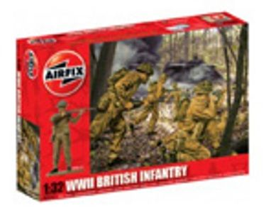MILITARY   AIRFIX A02718 WWII BRITISH INFANTRY 132