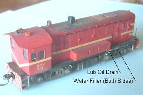 SAR LOCO KIT SAR 500 DIESEL SHUNTER KIT+MECH HO
